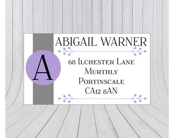 32 x Return address labels, address stickers, Personalised address stickers, Custom address labels, 026