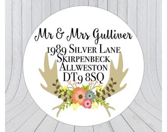 32 x Return address labels, address stickers, Personalised address stickers, Custom address labels, 065