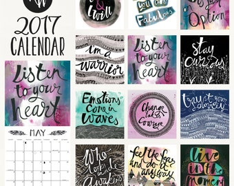 2017 Warrior Calendar