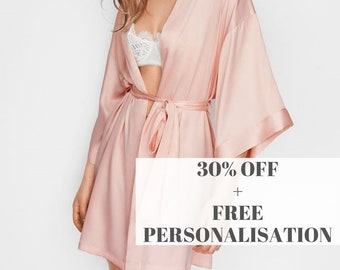 6e6ab04507 Personalised Robes   Floral Bridesmaid Robes   Getting Ready Robes   Bridal  Party Robes   Wedding Robes   Silk Robe
