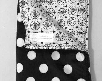 Reversible Black & White Baby Blanket