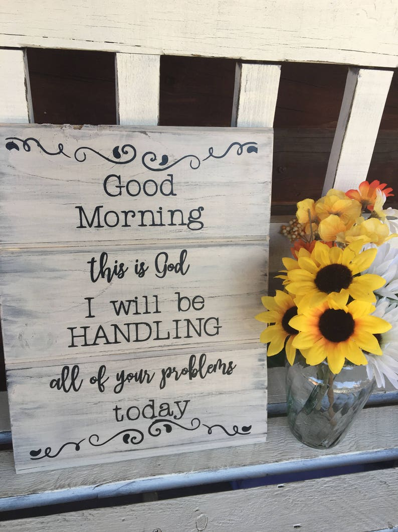 Good Morning Signbible Versejesus Decorchristian Home Etsy