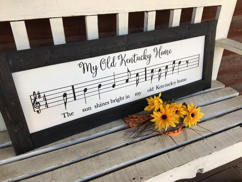 KENTUCKY Old Kentucky Home Sheet Music Art