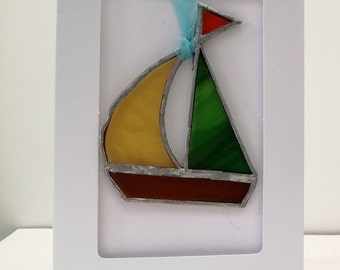 stained glass greetings card