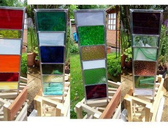 Decorative stained glass garden panels