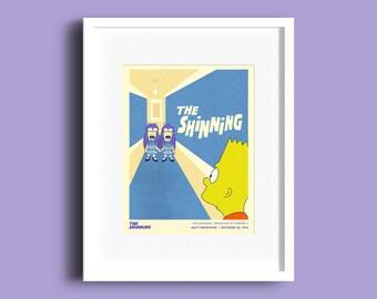 The Shinning, The Simpsons, Hand Drawn, Digital Art Print, Cool Prints, Geeky Art, Cartoon Print