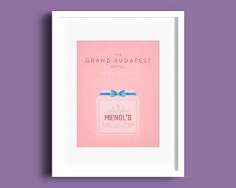 The Grand Budapest Hotel, Print, Mendls, Poster, Film Art, Film Poster, Gift, Home Decor
