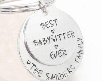 Babysitter gift etsy best babysitter gift babysitter keychain babysitter thank you gift babysitter gifts for babysitter from family best babysitter ever negle Image collections