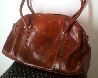 a6e5f8c5a71 Ik MEDICI FIRENZE gemaakt in Italië handtas echte echte Leather Tote tas  Italiaanse Vintage handtas in zeer goede staat