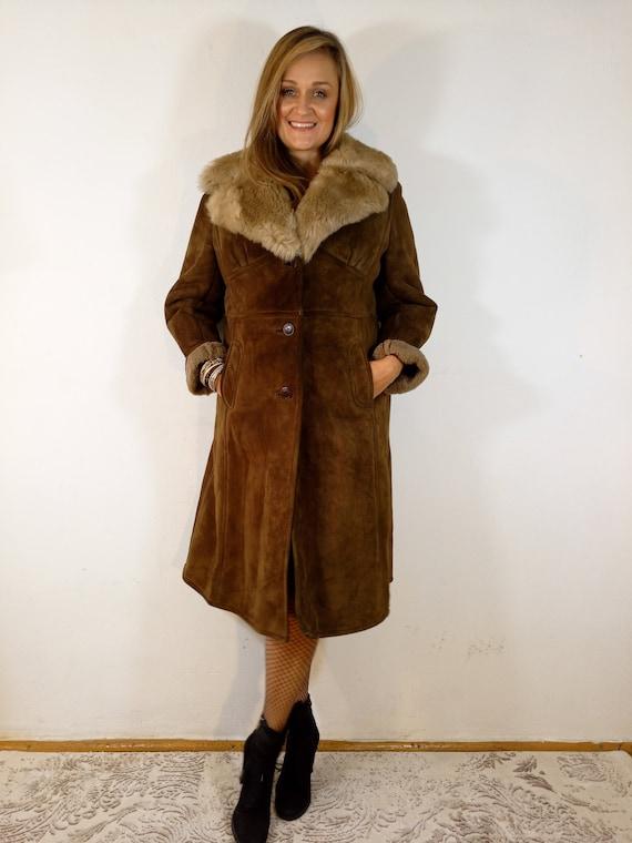 Vintage_Sherpa Shearling Sheepskin Coat Penny Lane