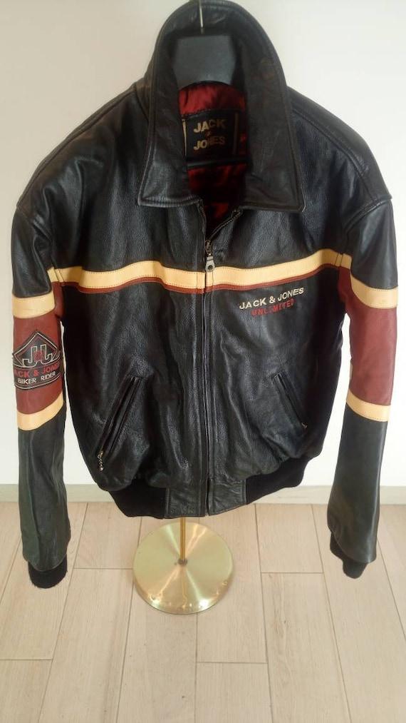 Vintage Jack & Jones Jacket Unlimited Biker Rider