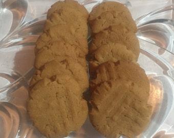 2 Dozen Homemade Peanut Butter Cookies ~ Gluten Free Option ~ DELICIOUS!