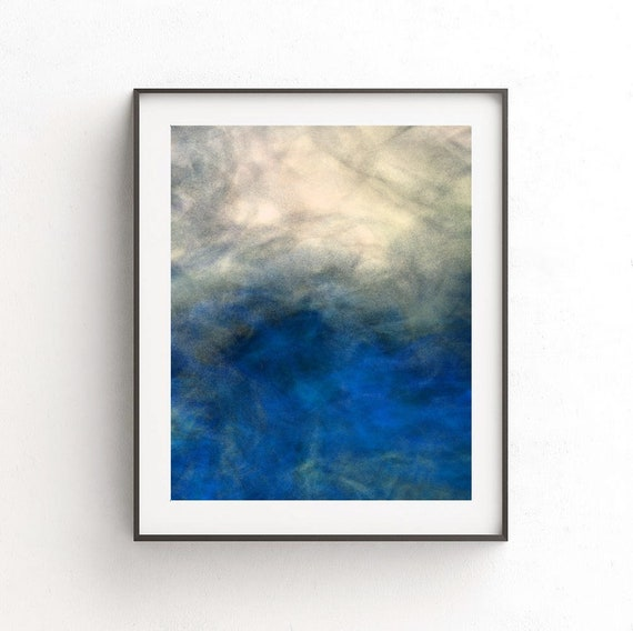 Blue And Grey Smoke Abstract Wall Art Printable Instant Digital Download Masculine Housewarming Gift Diy Home Decor Ideas For Any Room