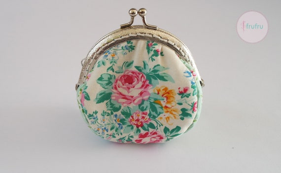 Cute Caticorn Women Girl Canvas Floral Coin Purse Clutch Pouch Wallet