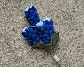 Texas Bluebonnet Bouquet, Set of 4