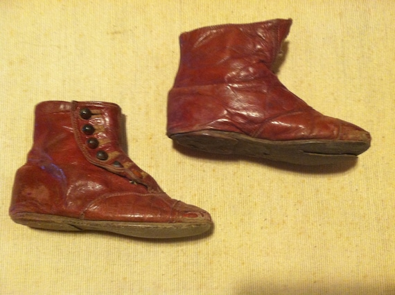 Edwardian Childs High Button Shoes - image 2