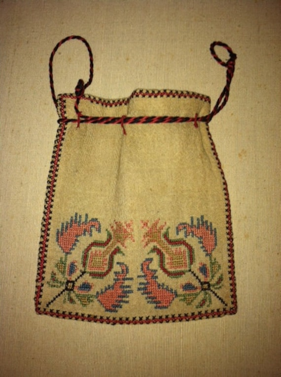 Ottoman Greek Embroidered Purse