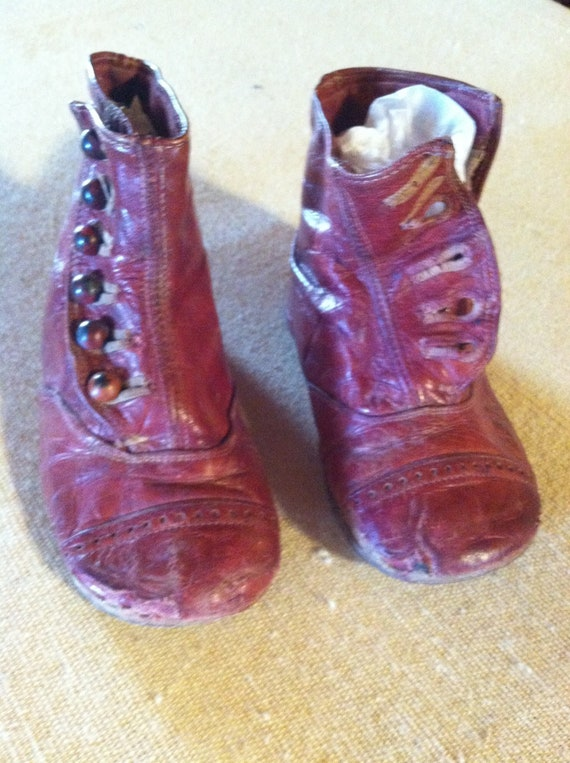 Edwardian Childs High Button Shoes