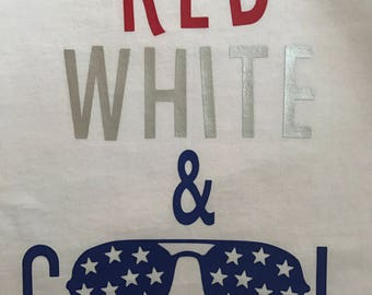 Red, White and Cool Tshirt