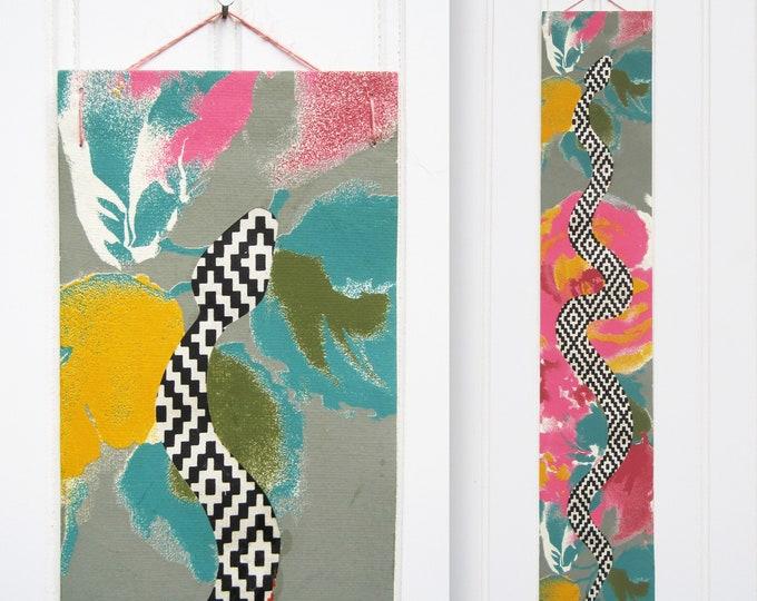 Colorburst Diamondback Paper Snake Collage Wall Hanging