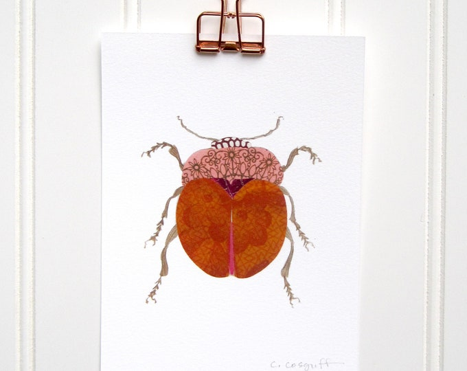 Fat Orange Beetle  Print