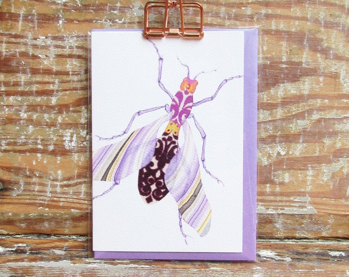 Lavender Marble Wing Bug Card