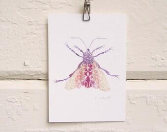 Lacy Lavender Bug Print