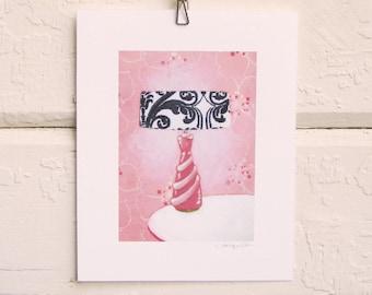 Pink Boudoir Lamp Print