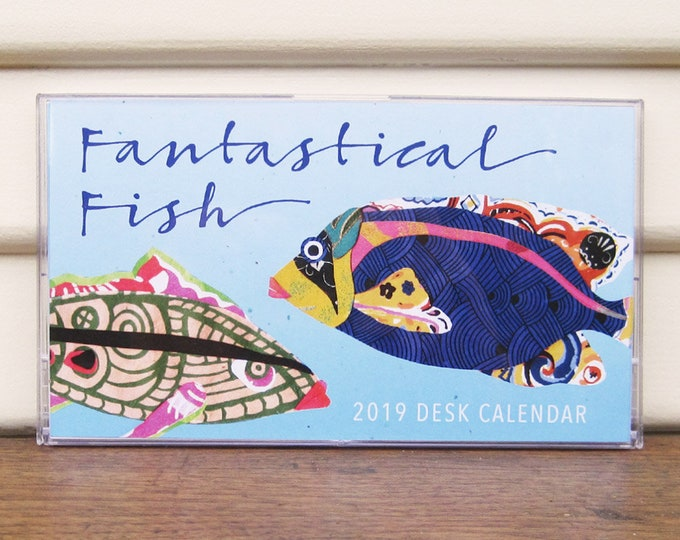 Fantastical Fish 2019 Desk Calendar