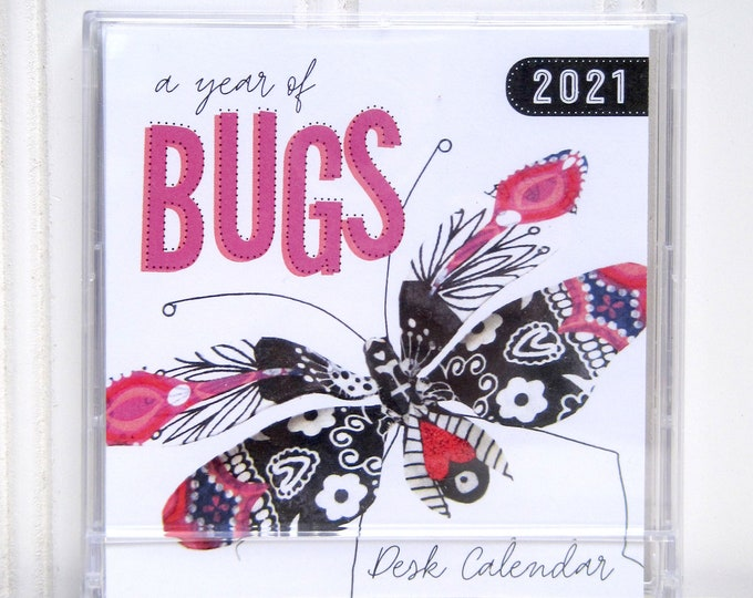 Mini CD Case Compact Bugs Desk Calendar 2021