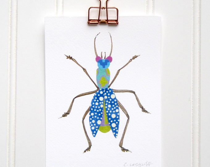 Bubbly Blue Bug  Print