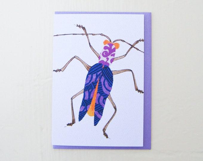 Lavender Swirl Bug Card