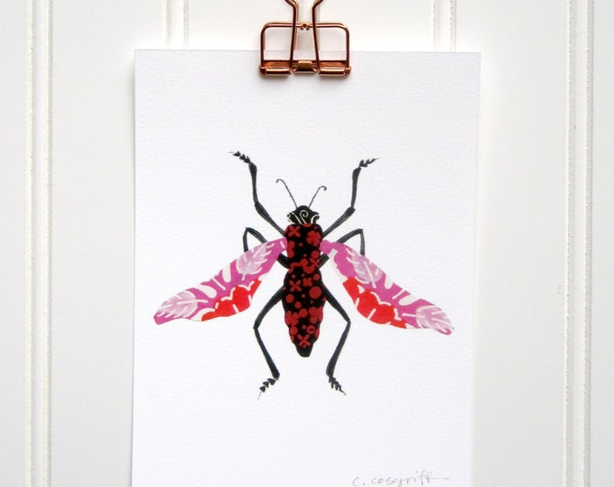 Hugs and Kisses Bug  Print