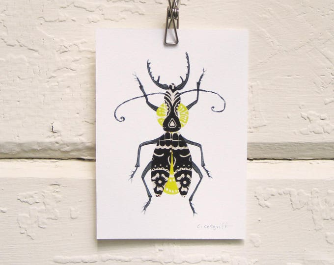 Black and Yellow Bug Print