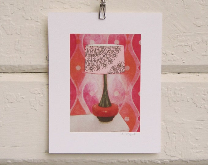 8 x 10 Lamp Print - Pink and Orange Pop