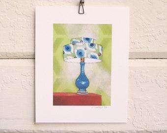 8 x 10 Lamp Print - Mod Turquoise