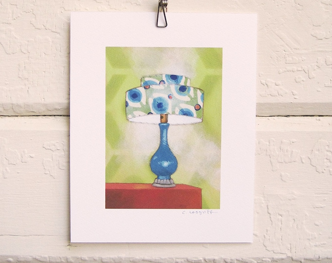 8 x 10 Lamp Print - Mod Turquoise