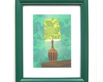 8 x 10 Framed Lamp Print - Leafy Green Lamp