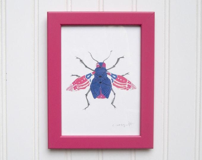 5 x 7 Framed Bug Print - Kimono Bug