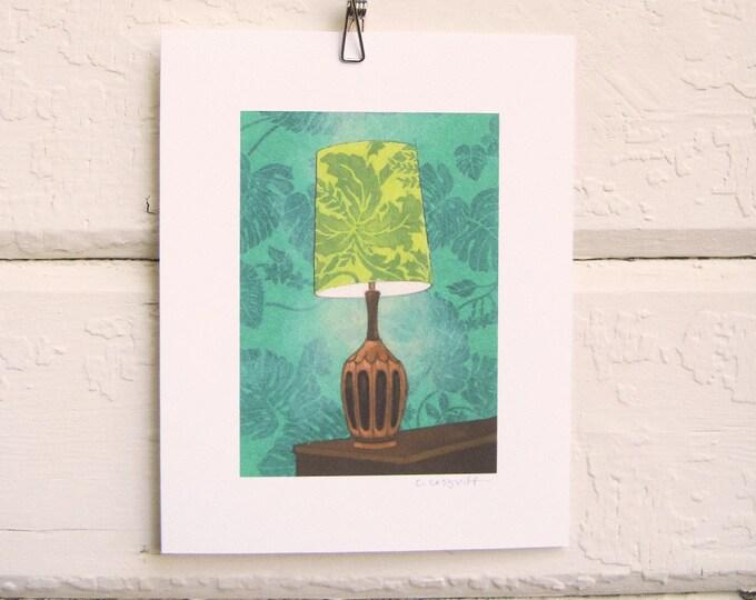 Leafy Green Lamp Print