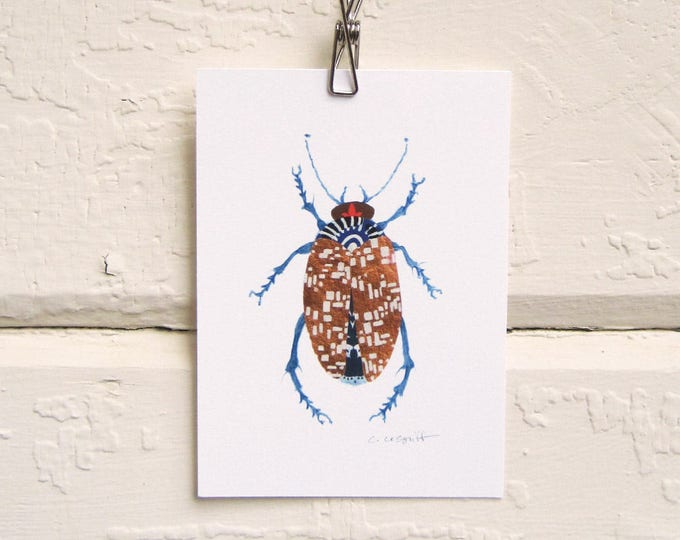 Shiny Copper Beetle Print