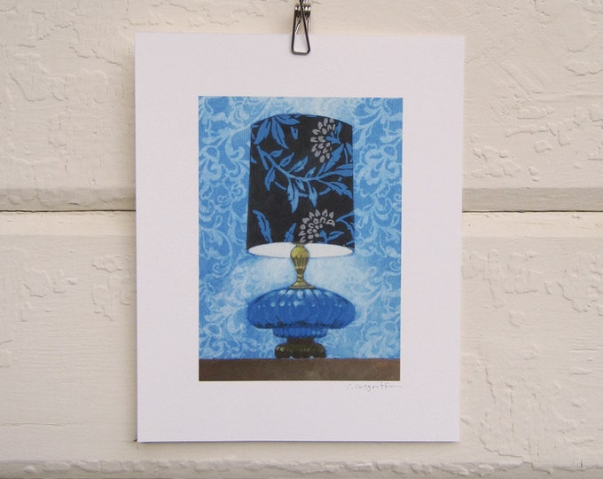 8 x 10 Lamp Print - Cool Blue