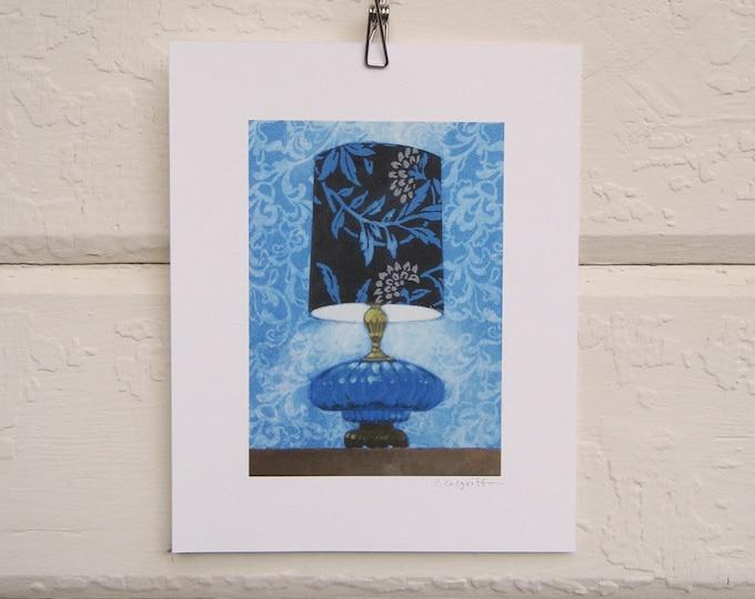 Cool Blue Lamp Print