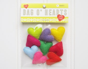 Lil' Bag o' Felt Hearts