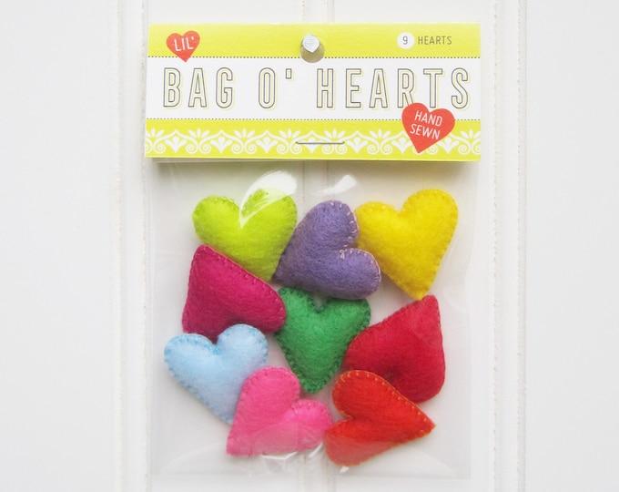 Lil' Bag o' Felt Hearts