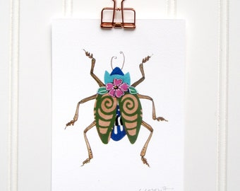 Tribal Beetle  Print