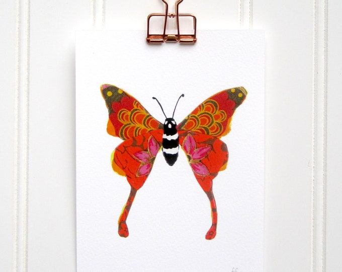 Orange Butterfly  Print