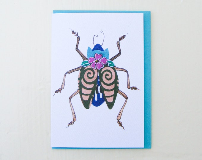 Tribal Beetle Card