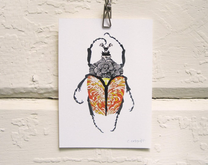 Imperial Orange Beetle Print
