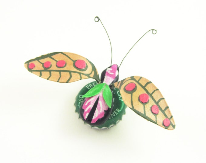 Island Insect Bottle Cap Refrigerator Magnet